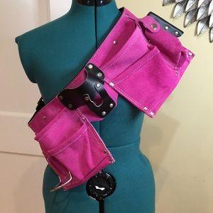 NWOT Leather & Suede Pink 9 Pocket Tool Belt